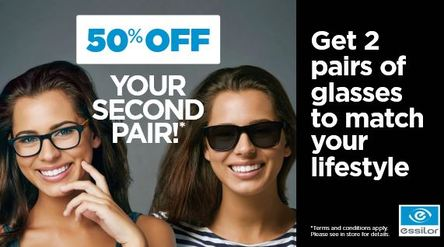 50% of glasses essilor
