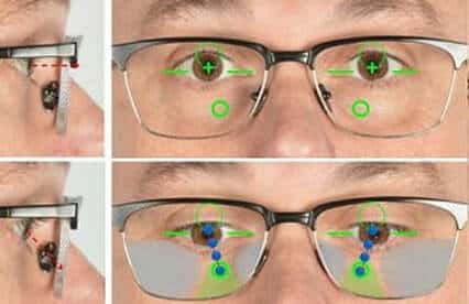 progressive lens location