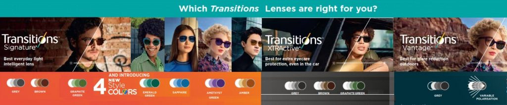 transitions lens types