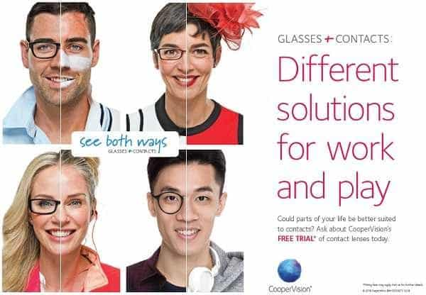 Wear both contact lenses and spectacles