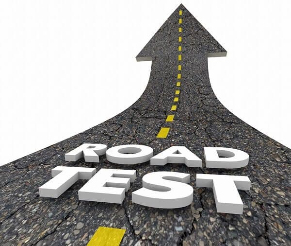 Road driving exam
