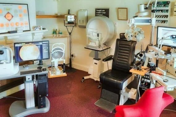 optometrist Bega consulting room