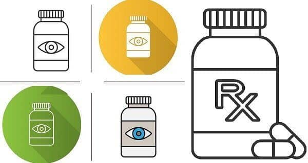 eye drops and tablets